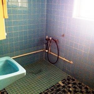 忍法、葉隠れの術! 浴室