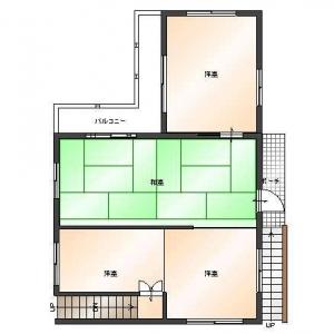 二世帯住宅大作戦!2F:平面図