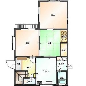 二世帯住宅大作戦!1F:平面図