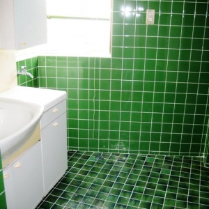 レンガ壁の大きな家 洗面・脱衣所