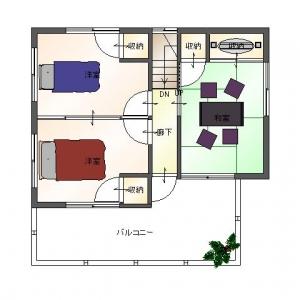 一家団欒ハウス  2Fリフォームプラン平面図
