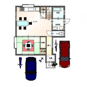 一家団欒ハウス  1Fリフォームプラン平面図