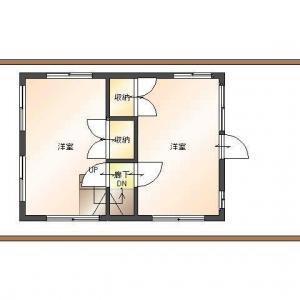 借地 de一戸建て。2F:平面図
