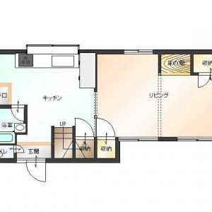 借地 de一戸建て。1F:平面図