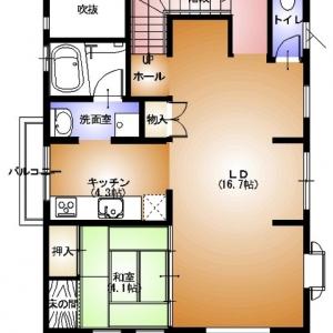 店舗付住宅 in HAMBY!  2F:平面図