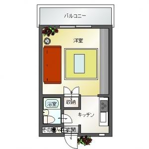 水平線ノムコウ  イメージ平面図-red