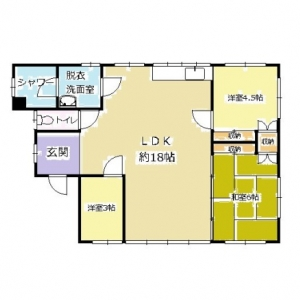 ビッグダッテ、車5台の二世帯住宅! 現況平面図:2F
