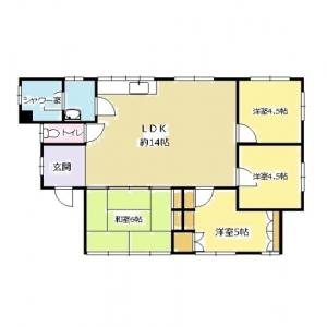 ビッグダッテ、車5台の二世帯住宅! 現況平面図:3F