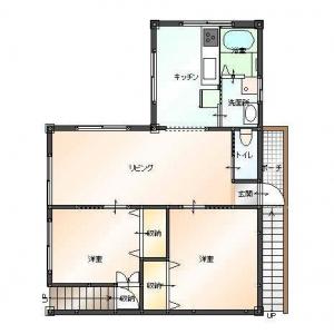 二世帯住宅大作戦!2F:リフォームプラン平面図