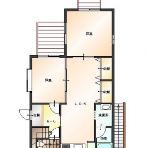 二世帯住宅大作戦!1F:リフォームプラン平面図