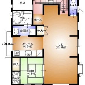 店舗付住宅 in HAMBY! 2F:リフォームプラン平面図