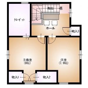 店舗付住宅 in HAMBY! 3F:リフォームプラン平面図