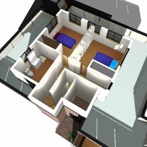 レンガ壁の大きな家 リフォームプランパース:2F①