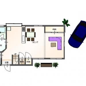 借地 de一戸建て。 リフォームプラン平面図:1F