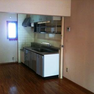 城下町の低層マンション①  キッチン
