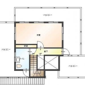レンガ壁の大きな家  2F:平面図