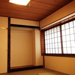 ハーフ&ハーフ 左和室窓障子と床の間